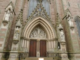 Inverness Cathedral entrance by piglet365