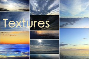 Texture: Sky and water 1-20 by Rogerdatter