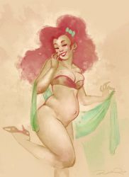 Pregnant Pin Up by Glasmond