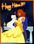 2017-Halloween-Mar and Ammon- Beauty and the Beast by MaskedSugarGirl