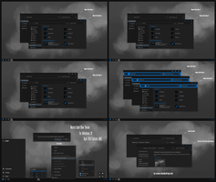 Maxtri Dark Blue Theme Win10 April 2018 Update by Cleodesktop