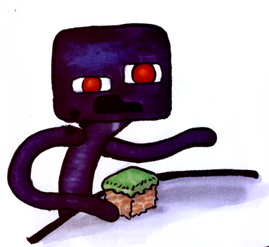 Cereal Eating Enderman by jonnay