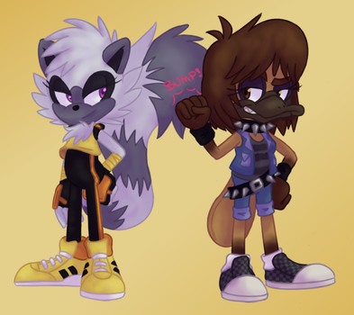 Tangle and Itty by Itoruna-The-Platypus
