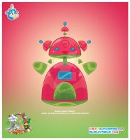Kawaii Robot UBP 00110010 by KawaiiUniverseStudio