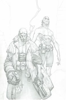 Hellboy and Abe Sapien Commision
