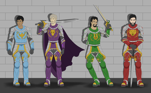 The Four Knights of Morcia by BobBricks