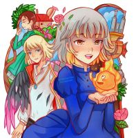 Howls Moving Castle by larienne