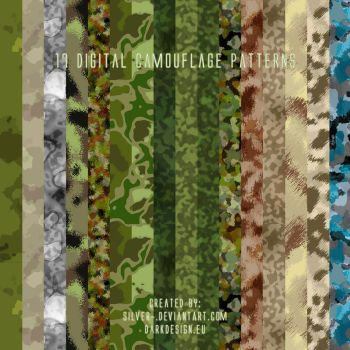 Digital Camouflage Patterns by silver-