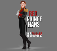 [MMD] Red Prince Hans - AVAILABLE by wintrydrop