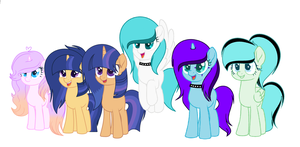 for my favorite mlp tubers ^^ by sarathehedgohg