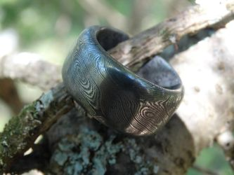 Twist damascus ring by TheRoyalWoof
