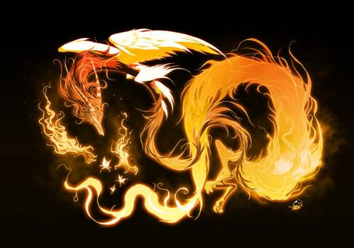 Fly Fire Fox by RedBast