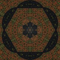 Mandala Twelve Topaz by SamSpruce