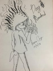 Inktober Day 3 - Roasted by KayceInk