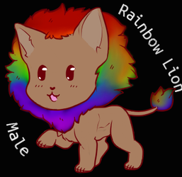 Rainbow Lion 5 points (Open) by OtakuLover3