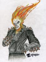 Colored Ghost Rider by atrafeathers