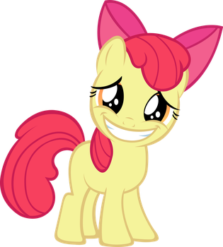 Applebloom Nervous Cheeks Vector by MrPiBB-93