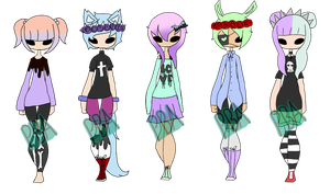 Adopt Batch #7 Pastel Goth {CLOSED} by PikabooAdopts