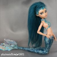 Monster High custom repaint Nefera mermaid by phairee004