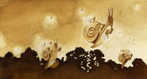 The Snail and the Fireflies by tigre-lys