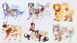 Zodiac Dogs, Adoptable Batch 1 [OPEN] by Plumbeck