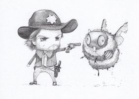 Walking dead zombees Rick by camilladerrico
