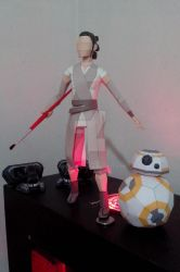 Star Wars VII - Rey and BB8 - Papercraft model by hugo-drax
