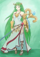 Palutena fanart by Mortava