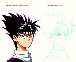 Hiei Coloring Practice by Whatsome