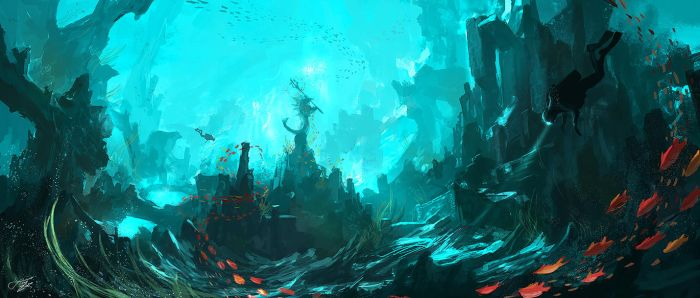 Underwater temple by tnounsy
