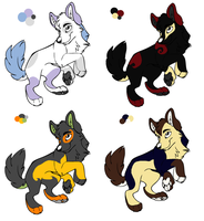 Makeup Inspired Wolf Puppy Adoptables (Closed) by vega37