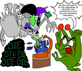 Collab: Of Big Bads and Worlds by CharmeleonGirl46