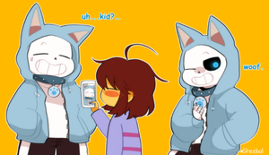 Dog Hoodie Sans by sheebal