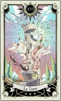 Tarot card 16- the Tower by rann-poisoncage