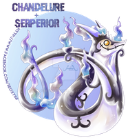 Serperior X Chandelure [closed] by Seoxys6