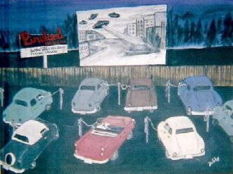 Drive-In Movie in The '50's by debby0305
