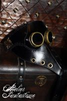 Plague Doctor steampunk leather mask by AtelierFantastique