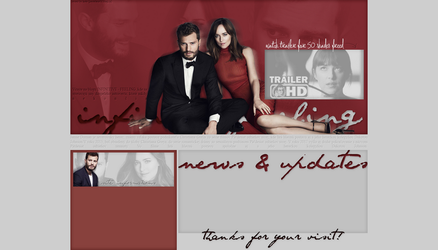 Ordered Layout ft. Jamie Dornan and Dakota Johnson by Kate-Mikaelson