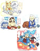 Johto Gym Leaders pt.2 by Porcubird