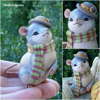 Steampunk Scarf Mouse by MysticReflections