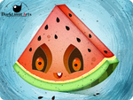 WaterMelon Zombie by DarkLimitArts