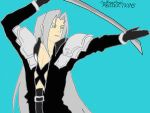 '09 Sephiroth colored Sketch by SephycatedEveryNight