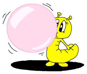 Issa Blowing Pink Bubble Gum by PokeGirlRULES