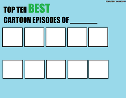 Yearly Best Cartoon Episodes template by Ragameechu