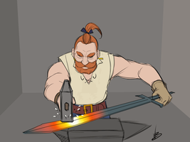 Blacksmith (colored) by Davide-Bondi