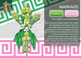 Markaize, the Corn Stalk Fakemon by AtmaFlare