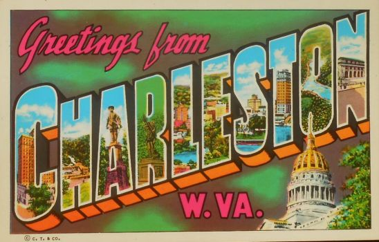 Large Letter Postcard - Charleston, West Virginia by Yesterdays-Paper