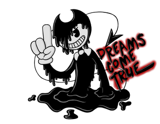 Bendy And The Ink Machine - Black And White by Dante6499