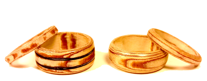 Birch plywood bentwood rings by angelhitsground