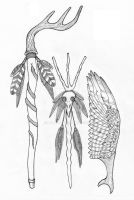 Feathered Ritual Tools by Lolair
